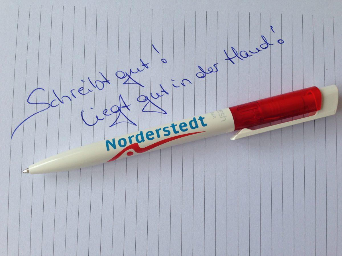 Norderstedt Kugelschreiber 70% natürlich!