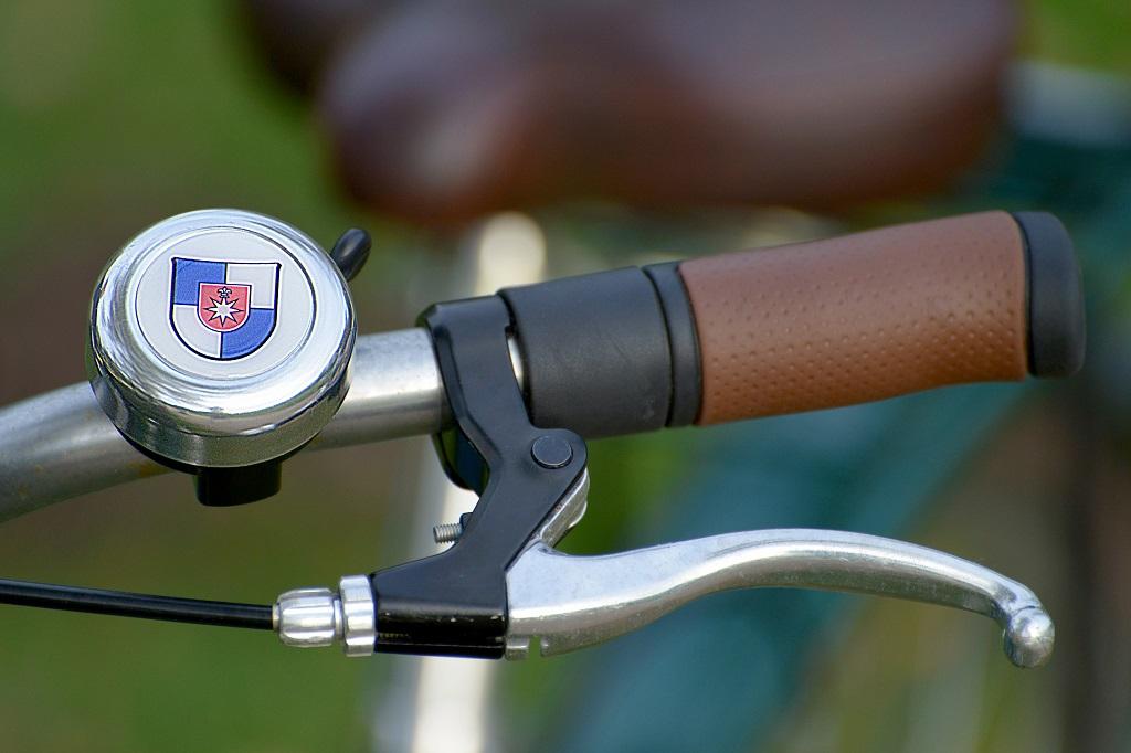 Fahrradklingel mit Stadt-Wappen